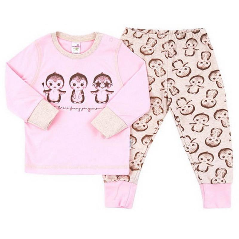 Пижама для девочки Пингвины Crockid d90d9aa9cbb88