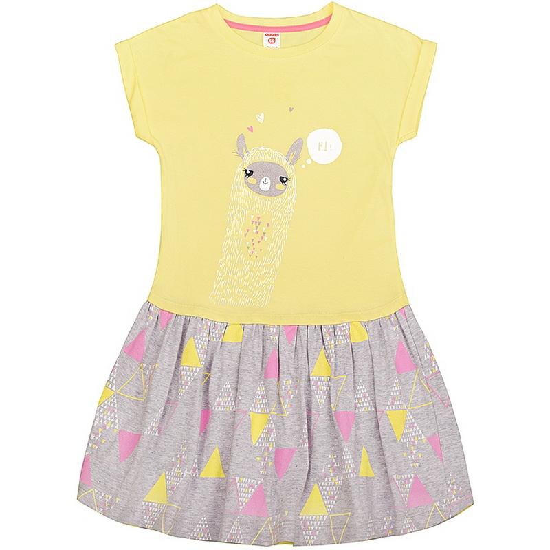 848f884377b826e Платье для девочки Лама жёлтое Optop, арт. К 5380/бж1. Интернет магазин  детских ...