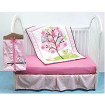 Комплект в детскую кроватку 4 предмета Птичка, Luvable Friends, арт. 40091