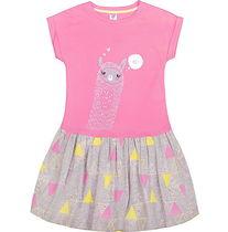 332a35e337cd Платье для девочки Лама розовое Optop, арт. К 5380/ро1