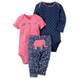 Комплекты и пижамы для девочек 0-2 лет со скидкой